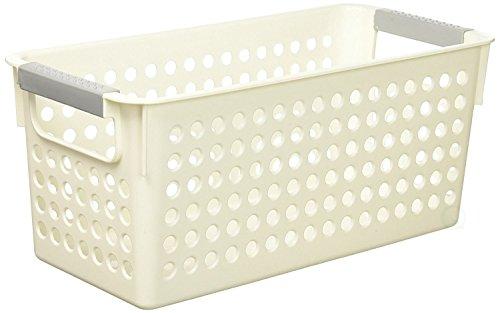 Basicwise QI003238 Rectangular Plastic Shelf Organizer with Handles