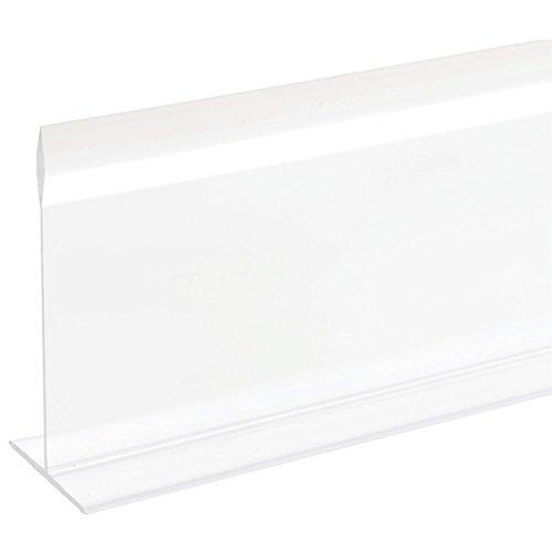 Clear T-Shaped Plastic Shelf Dividers 30L x 5H