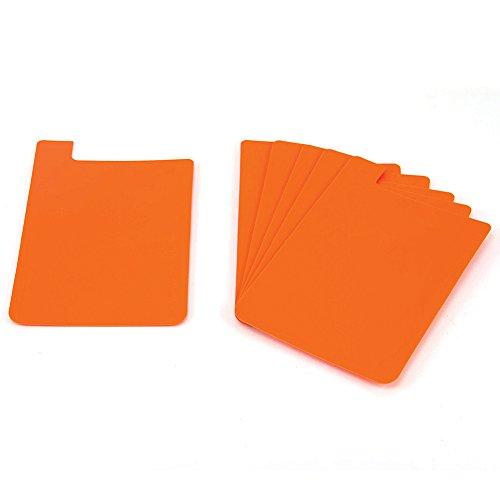 Heavy Duty Plastic Shelf Markers-Orange-6pkg