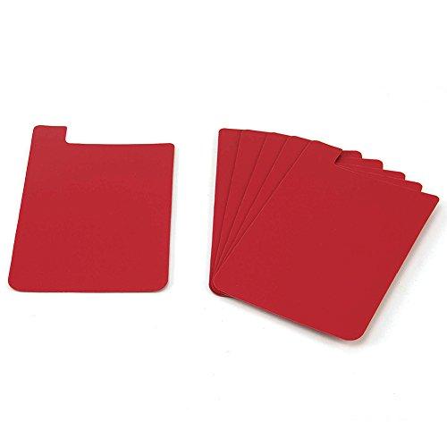 Heavy Duty Plastic Shelf Markers-Red-6pkg