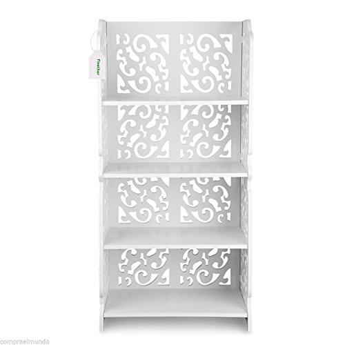 4-Tier Modular Storage Rack Shelving Unit Organizer Shelf Bookcase Home Office