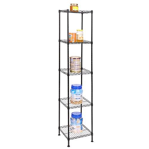 Heavy Duty Multifunctional Storage Organization Rack Shelving Unit for Kitchen Bathroom Living Room Dorm US STOCK 5 Tier