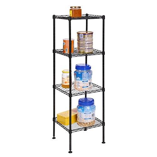 Lantusi Steel Storage Shelving Organization Rack Shelving Unit for Kitchen Living Room Bathroom Shelf US STOCK 4-Tier