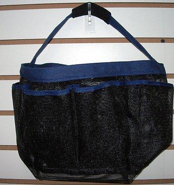 Bunk Junk Boys and Girls Blue Trim Mesh Sleepaway Camp Travel Sleep Away Shower Caddy Bag