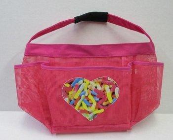 Bunk Junk Boys and Girls Gummy Worm Mesh Sleepaway Camp Travel Sleep Away Shower Caddy Bag