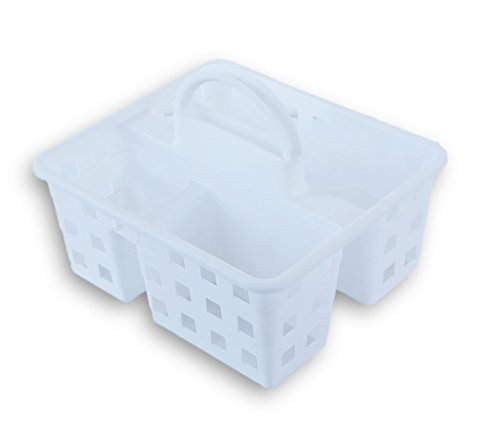 Small Utility Shower Caddy Tote - White