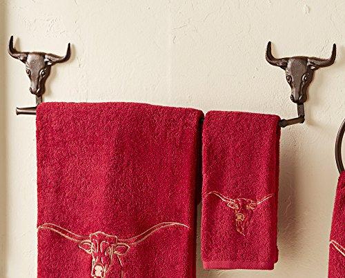 Steer Head Metal Towel Bar
