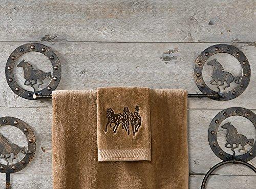 Western Horse Metal Western Towel Bar - Western Bath Decor