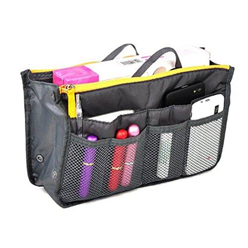 Airstomi Comestic Makeup Travel Handbag Bag In Bag Purse Organizer Insert Pockets Tidy Storage Bag