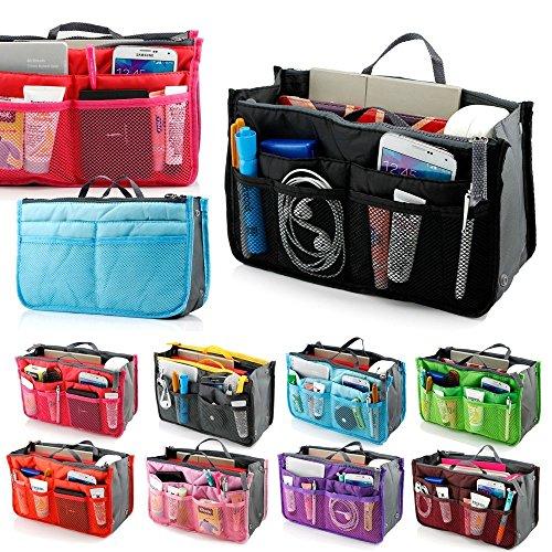 Wyhui Multi-function Handbag Purse Organizer Insert Phone Cosmetic Bag in Bag Storage Case Blue XXL