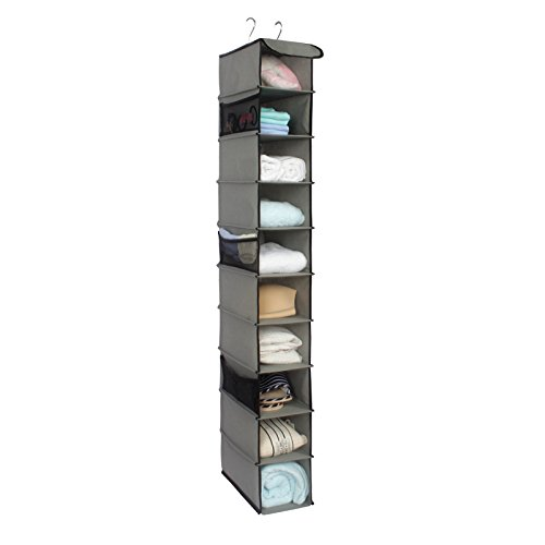 10 Shelves Hanging Closet Organizer