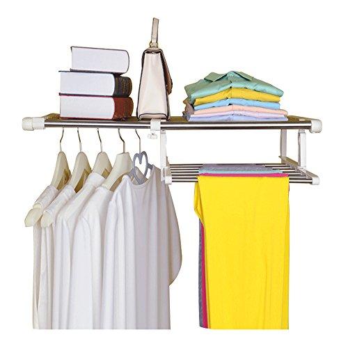 Baoyouni Closet Shelf Dividers for WardrobePartition Telescopic Rack Expandable Storage Shelf 2165-3543 IN
