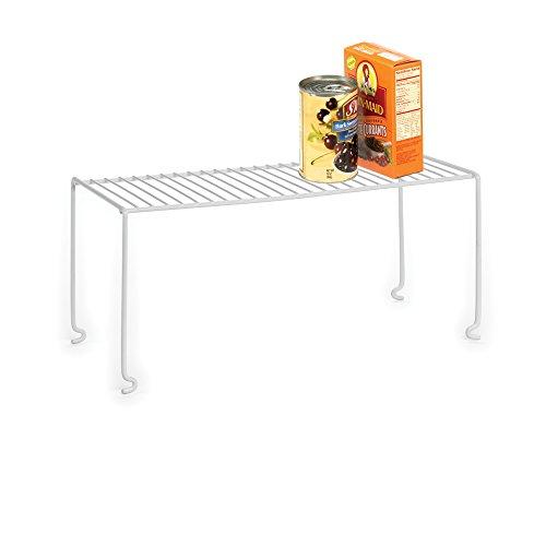 HOMZ Shelf Pantry Organization White Coated Construction Jumbo 21 inch Wire Stackable Shelves 2125 x 875 x 95