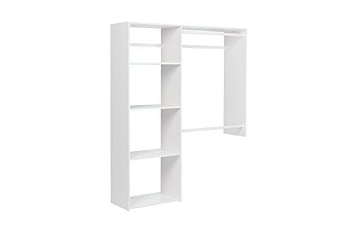Easy Track OK7248 3 to 5 ft Wide Closet Kit White