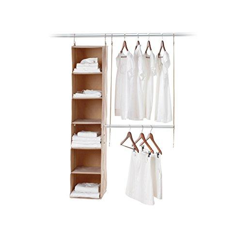 Neeatfreak 5665-ST Two Piece closetMAX SYSTEM Starter Kit 6 Shelf Hanging Bar