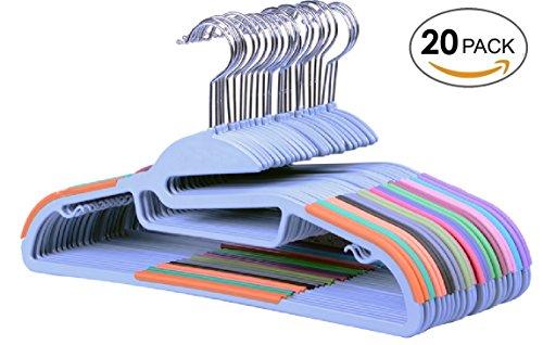 Luxehome Non-Slip Plastic Clothes HangersSet of 20