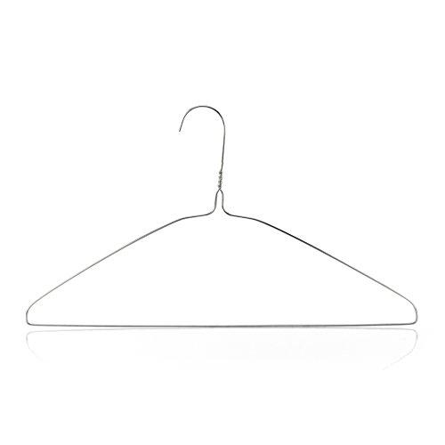 HANGERWORLD 10 Silver 16inch Wire Metal 13 Gauge Clothes Garment Coat Pants Bar Hangers