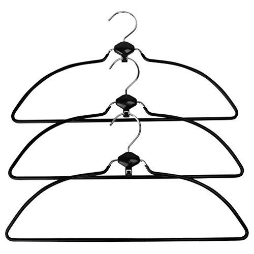 Evelots Swivel Non Slip Rubber Coated Metal Cascading Space Saving Hangers3 Set