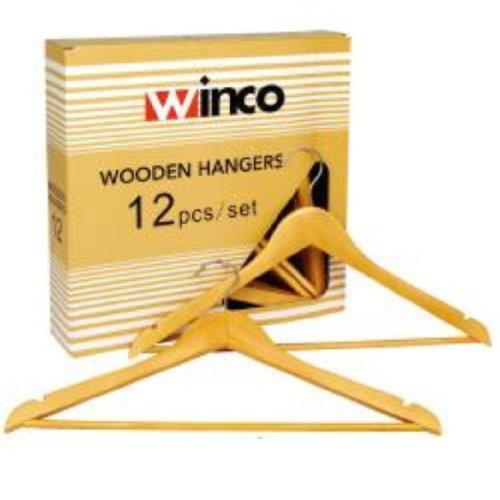 Winco Wooden Clothes Hanger 12 Pcs