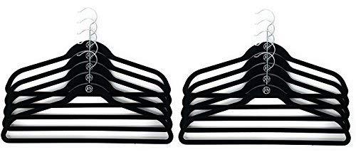 Joy Mangano Huggable Hanger Set for Suits and Pants 10-Pc 1 Black