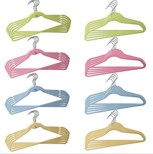 OFF Elegant 3L HANGERS-Cascade Hangers Steel Swivel Hooks -Slim Sturdy Saves You Extra Space-Blue PinkGreenYellow 20pc Hangers In Flat Shape And 20pc Flat Hangers With Cascade Hook---40Pack