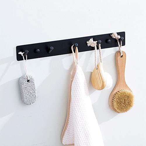 CBXSF 304 Stainless Steel Bathroom Toilet Black Coat Hanger Hook Decorative Dressing Stick Hook Single Hook Bathroom Hook Row Puncturing Bathroom Rack Free