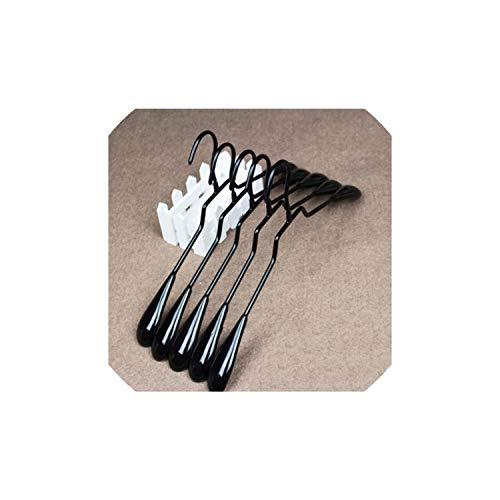 Coat Hangers10Pcs Plastic Anti Slip Childrens Coat Hanger Adult Hanging Clothes Rack43Cm Black