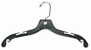 Black Plastic 17 Top Hanger Bundle of 50