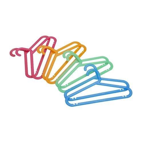 Ikea Bagis Childrens Coat-hanger Bright Colored 8-pack - Bundle of 3 Packs 24 Total Hangers