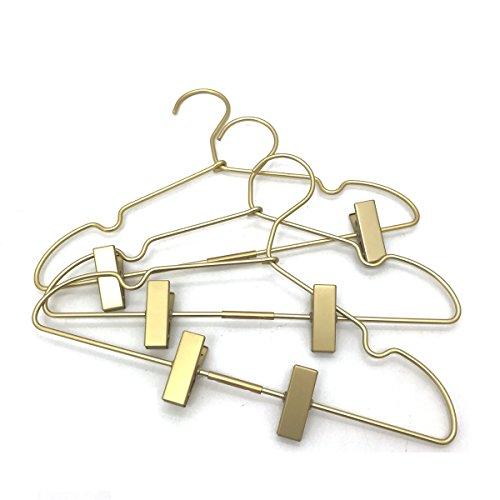 Koobay 125 Gold Metal Baby Clothes Clips Hanger Children Kids Coat Hanger Display and Storage 30PCS