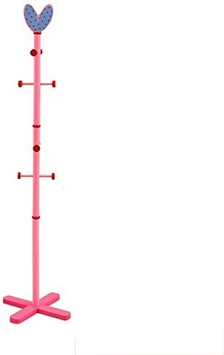WZF Coat Rack for Children Coat Hanger in Solid Wood for Children Cartoon Hanger Pink Nursery