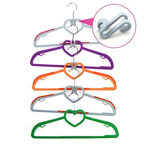 Egoelife 30 Pcs S Shape Space-Saving Clothes Hanger Connector Cascading Hooks Clothes Rack Hook 30