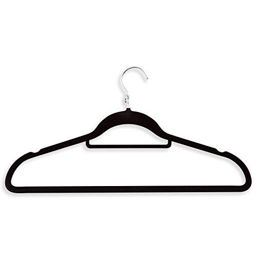 Honey-Can-Do HNG-01091 Velvet Touch Cascading Suit Hanger 3-Pack Black