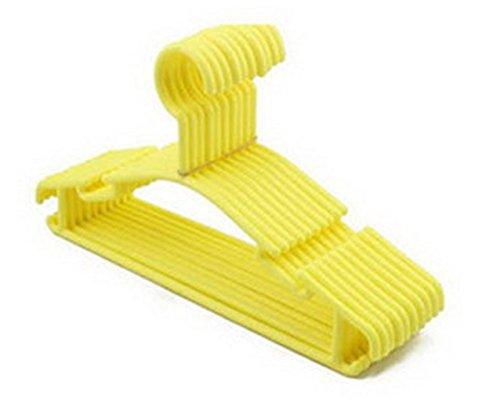 Homebase Slim Lightweight Non-slip Plastic Children Clothes Hangers 20 Pack Yellow