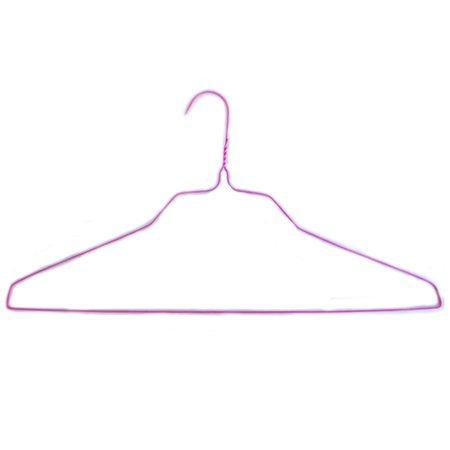 18 Wire Hangers Pink 100 per Box