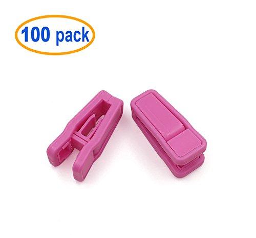 Plastic Slim-line Finger Clip Pink Hanger Clips 100pcs Pink