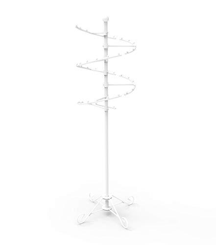 FixtureDisplays 60 High Spiral Clothing Rack with 42 Ball Stops Versatile Apparel Hanger Floor Stand Display Rack 16967-NPF