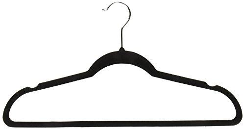 Achim Home Furnishings Velvet Coat Hangers Black 10-Pack