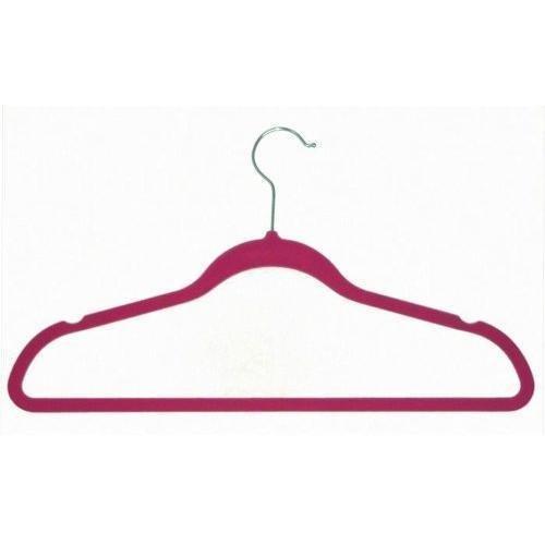 Achim Home Furnishings Velvet Coat Hangers Pink 10-Pack New