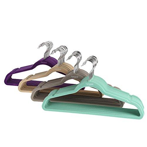 Homgeek 60 Pack Velvet Clothes Hanger SuitShirtPantsCoat Clothing Rack