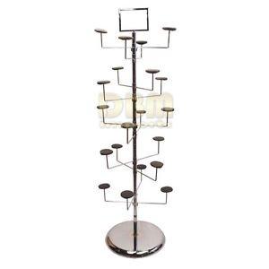 Revolving 10 Tier 20 Hat Hanger Display Retail Rack Tree Floor Stand Fixture