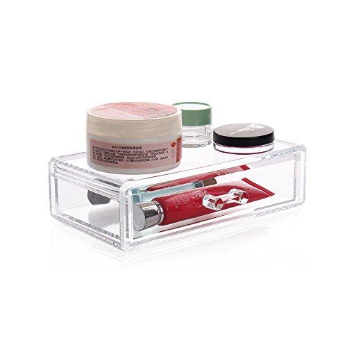 Aoert Design Acrylic Drawer Organizer Display Box - Clear Drawer Storage Organizer - Arranges Makeup and Accessories