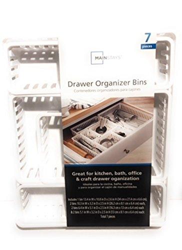 7 Piece Drawer Organizer Bin Set