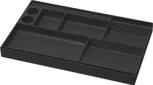 Acrimet Drawer Organizer Bin Multi-Purpose Storage for Desk Supplies and Accessories Plastic Black Color