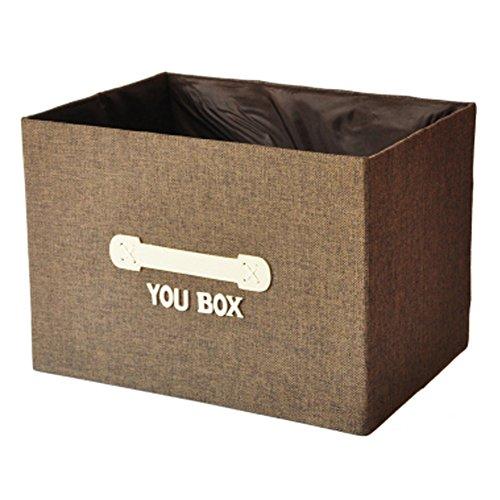 Household Foldable Storage Basket Drawer Organizer Storage Box Coffee