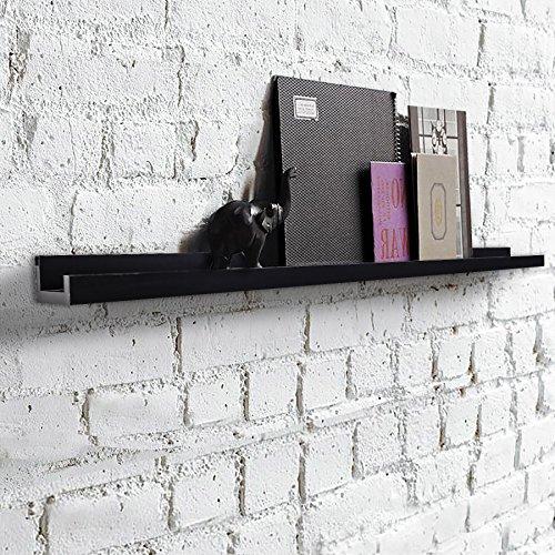 Shelving Solution Large L Shaped Floating Shelf Black45 14 Inch