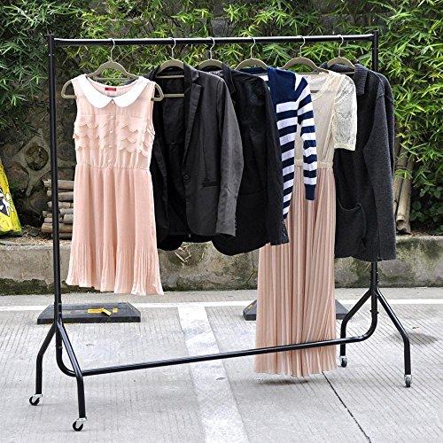 6ft Garment Clothing Rail White SUPER Heavy Duty Hanging Display Rack