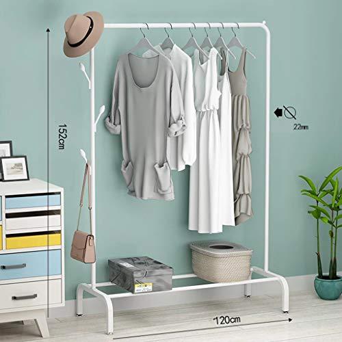 Balcony Drying Rack Bedroom Hanger Single Pole Drying Rack Floor Simple Clothes Rail Folding Clothes RackWhite