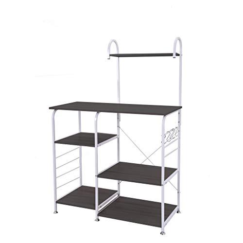 Mefedcy 3-Tier Kitchen Bakers Rack Utility Microwave Oven Stand Storage Cart Workstation Shelf Black