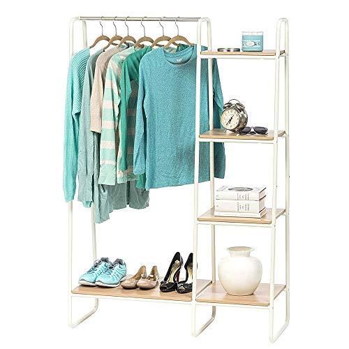 OA Garment Rack Coat Rack Free Standing Free Standing Towel Rack Garment Rack Shelf with E-Book